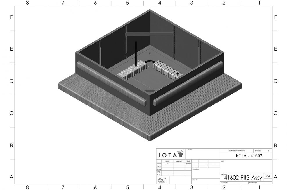 Large planter and benching CAD design