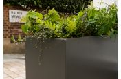 powder coated aluminium planters