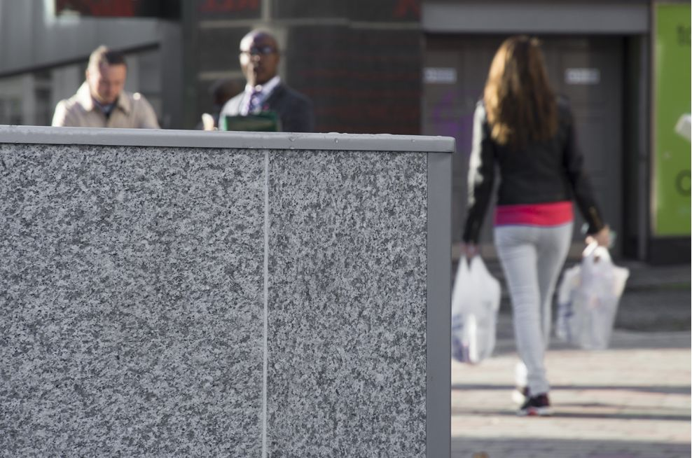 Light Grey Granite Planters