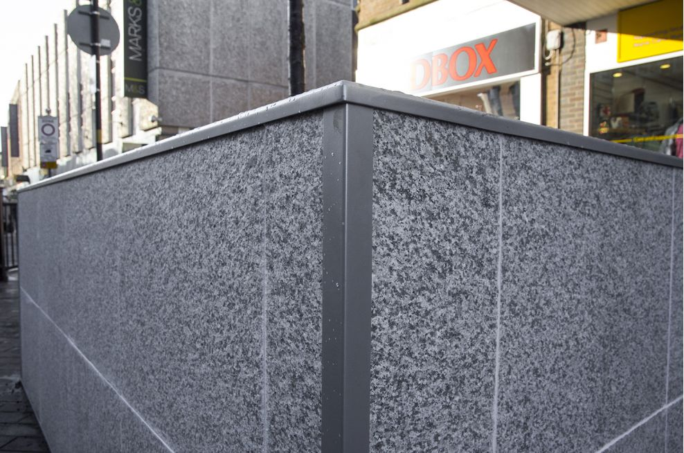 Powdercoated Planters Coated To RAL 9023