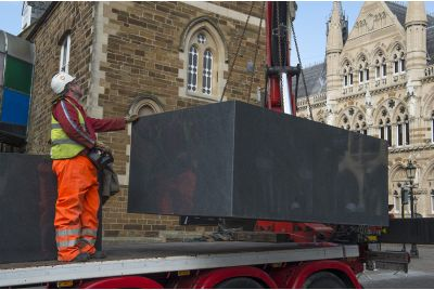 Installing The Largest Granite Planter