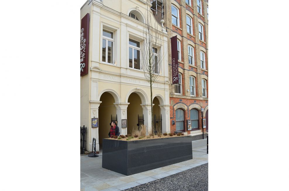 Larger Granite Planters Outside The Royal Theatre