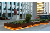 Corten steel movable planters