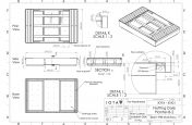 Steel planter integral bench seating CAD