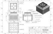 Decorative public space planters design