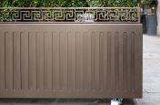 Decorative trough planter with castors