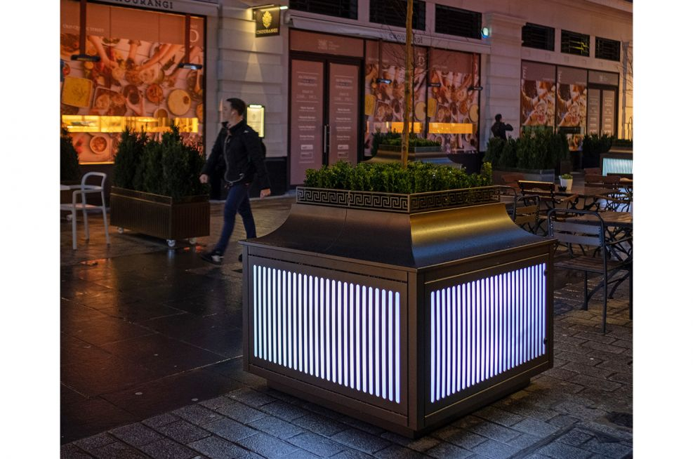 Illuminated planters for London high street