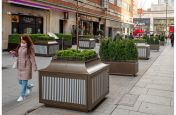 Steel tree and trough planters