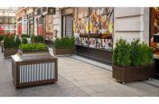 Complementary planters for public realm spaces