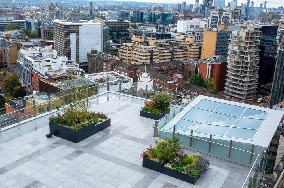 Office terrace planters in London