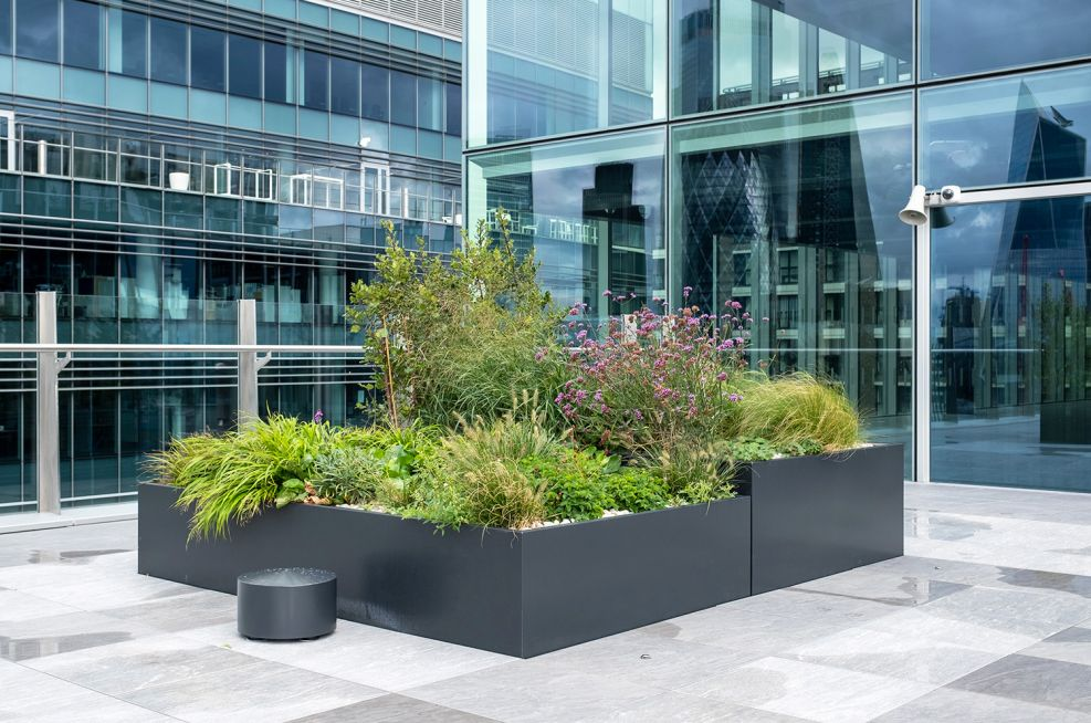 Bespoke steel rectangular planters