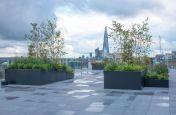 Custom made rooftop planters