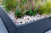 Zintec steel planters detail