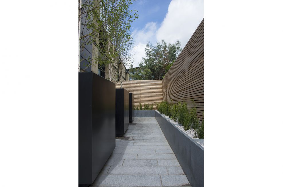 Bespoke Steel Planters at One Lochrin Square