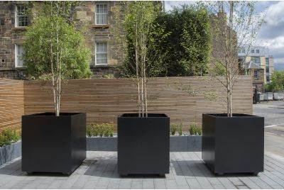 Bespoke Steel Planters At One Lochrin Square, Edinburgh, EH3