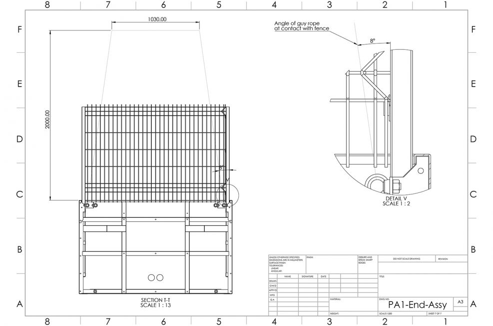 sectional planter fabrication design