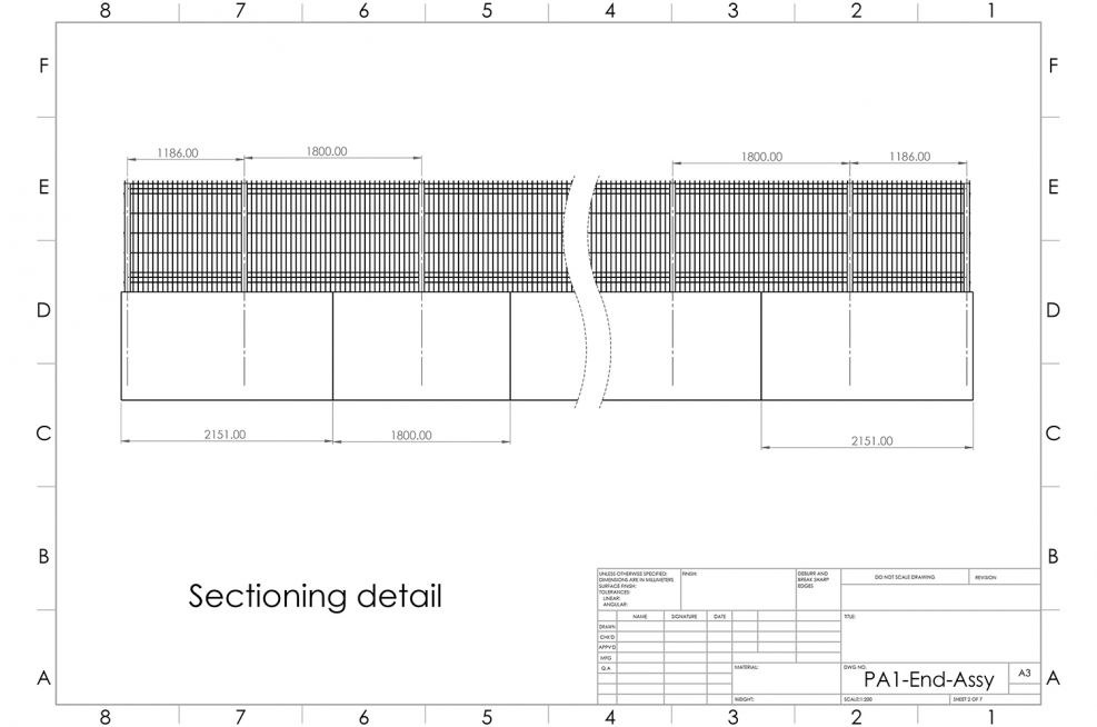 PPC steel planters CAD design