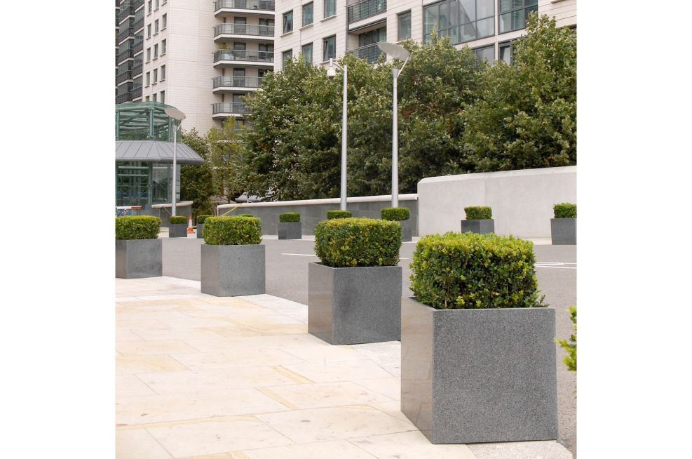 IOTA Cube Planters Made From Granite