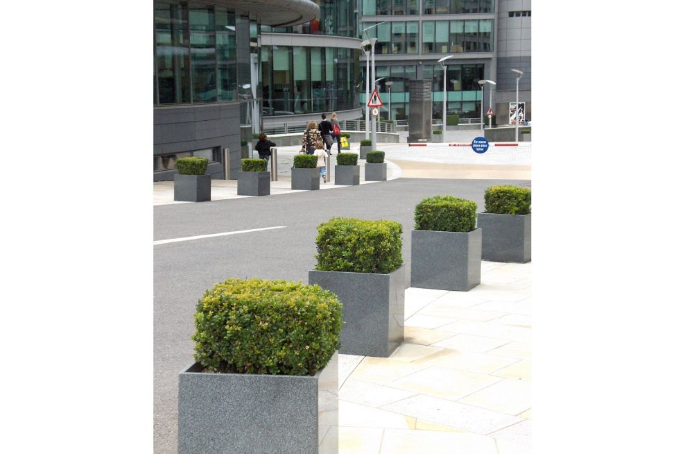 Granite Cube Planters At The Award Winning Paddinton Central