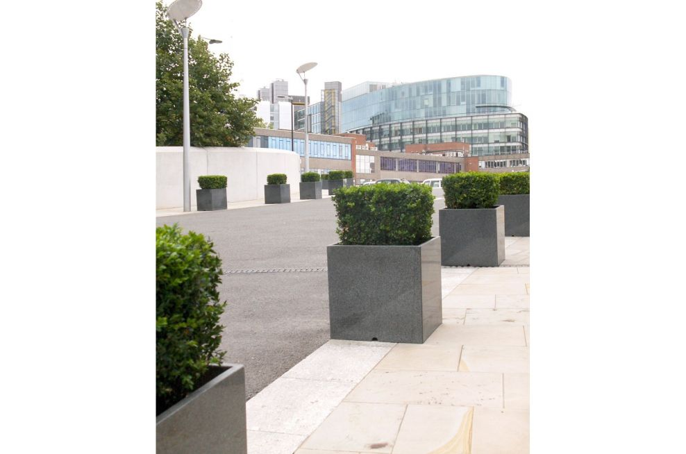 Residential Granite Planters From IOTA