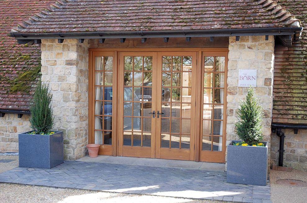 Granite Cube 600 Planters At Entrance