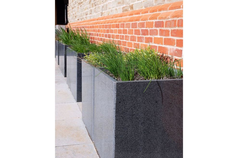 Herb Filled Trough 1000 Planters