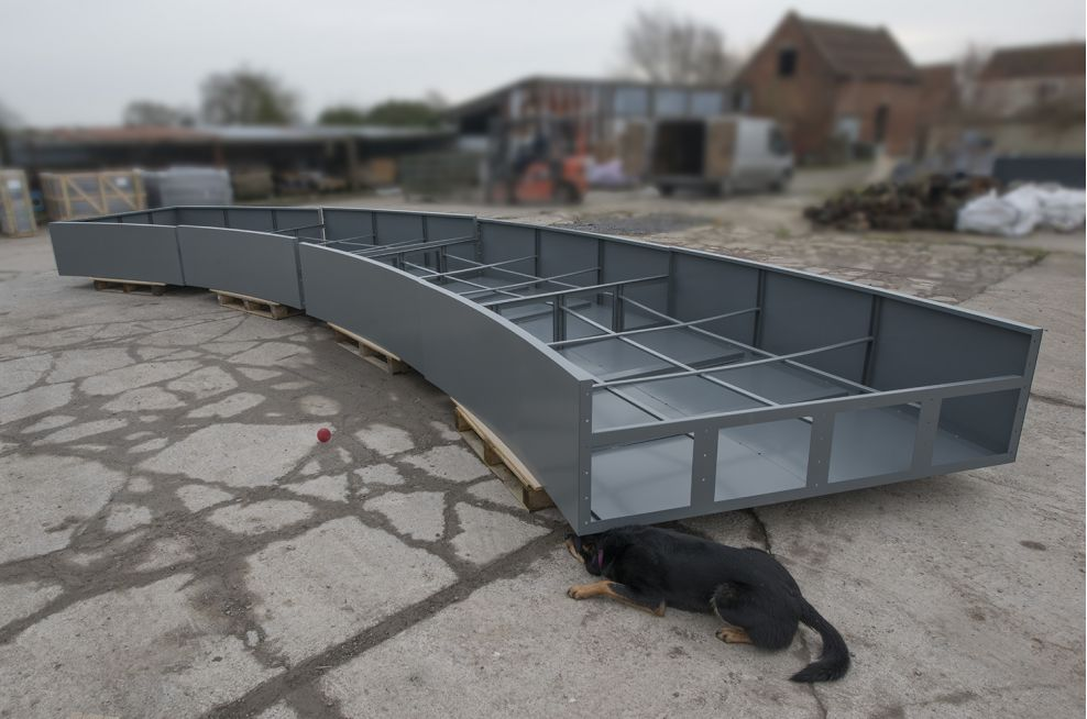 4 Sections Of The Extra Large Arc Planters Steel Frame