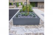 Bespoke Powder Coated Planters Parkside Quarter