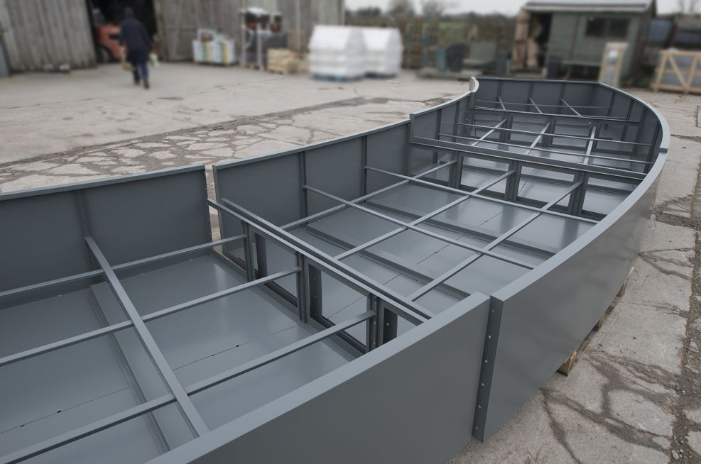 Close Up Of The Large Arc Planters Steel Frame