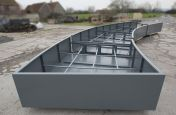 Internal Steel Frame of Extra Large Arc Shaped Planter