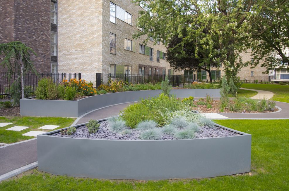 Internally Reinforced Steel Planters London