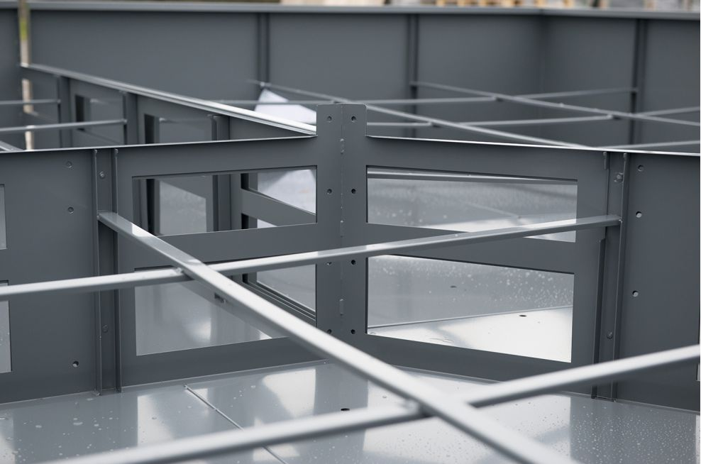 Planter 3 Steel Planter Framework