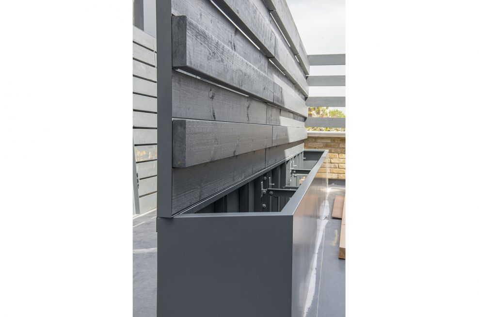 RAL 7011 Iron Grey Powder Coating For Timber And Steel Planters