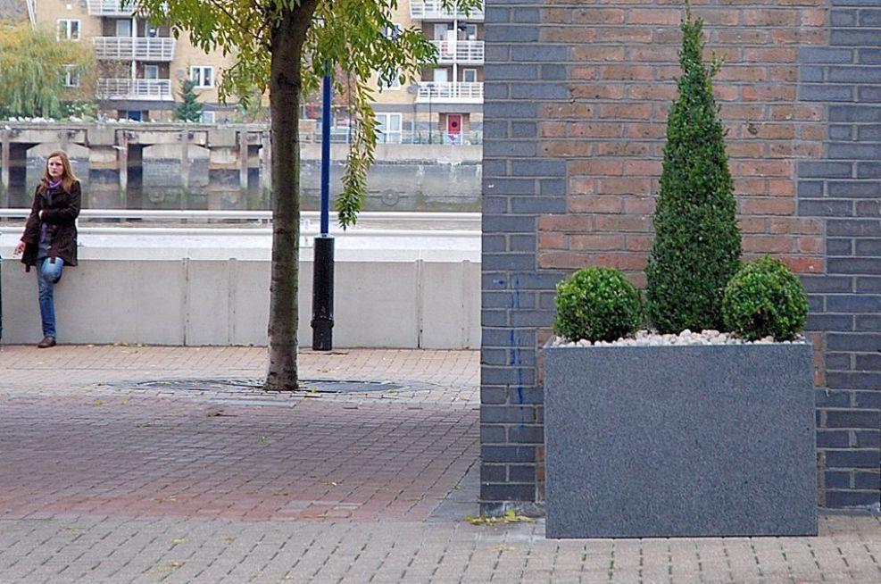 Bespoke External Granite Low Square Planters