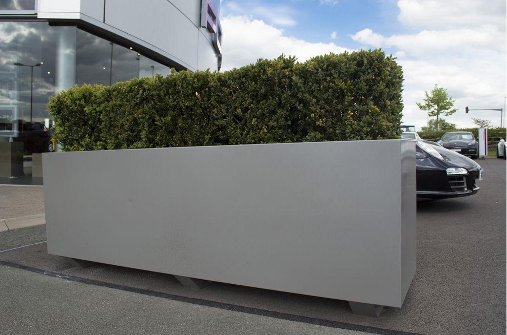 Porsche Centre Leicester, LE4 - Bespoke Steel Planters as ...