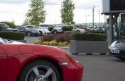 IOTAs Steel Planters At The Porsche Centre Leicester