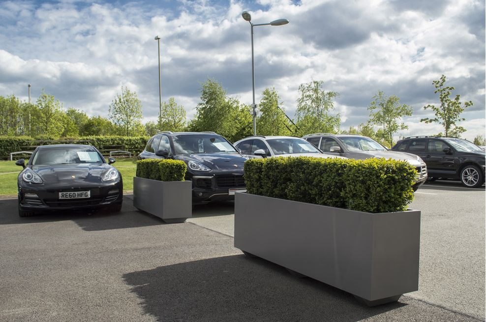 Planters Used On The Forecourt To Divide Space