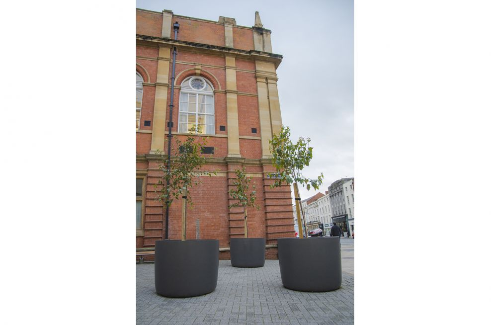 High Performance Composite Boulevard Planters