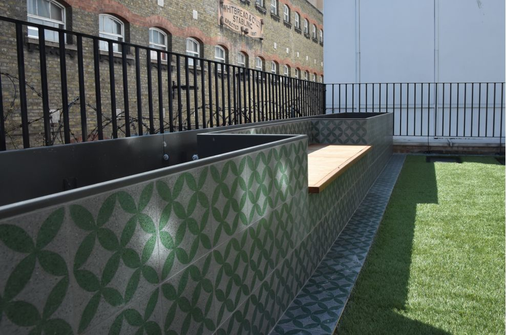The Planter Tiles Were Tapped In Steel