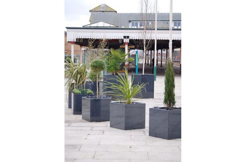 Granite Cube 600 Planters Made From Natural Speed