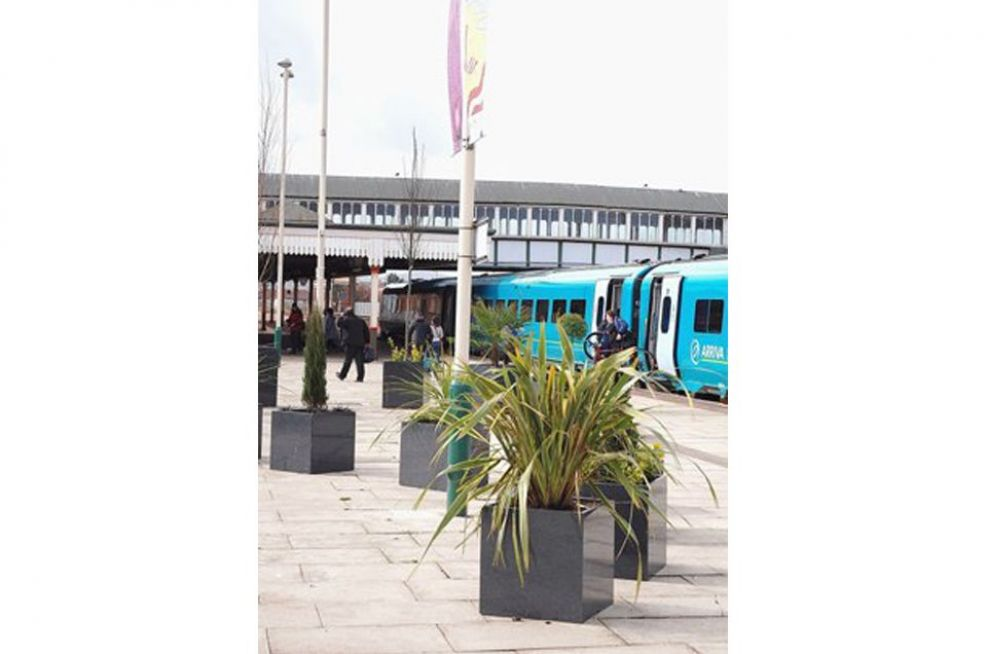 Rhyl Town Centre Regeneration Project Featuring IOTAs Granite Planters