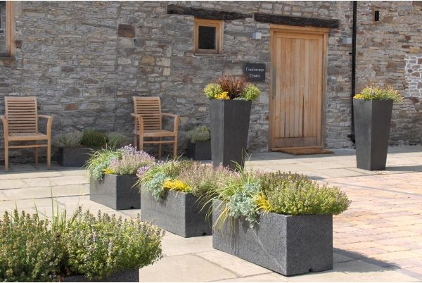 IOTA's Granite Stone Planters At Rolls-royce Corporate Hospitality Venue