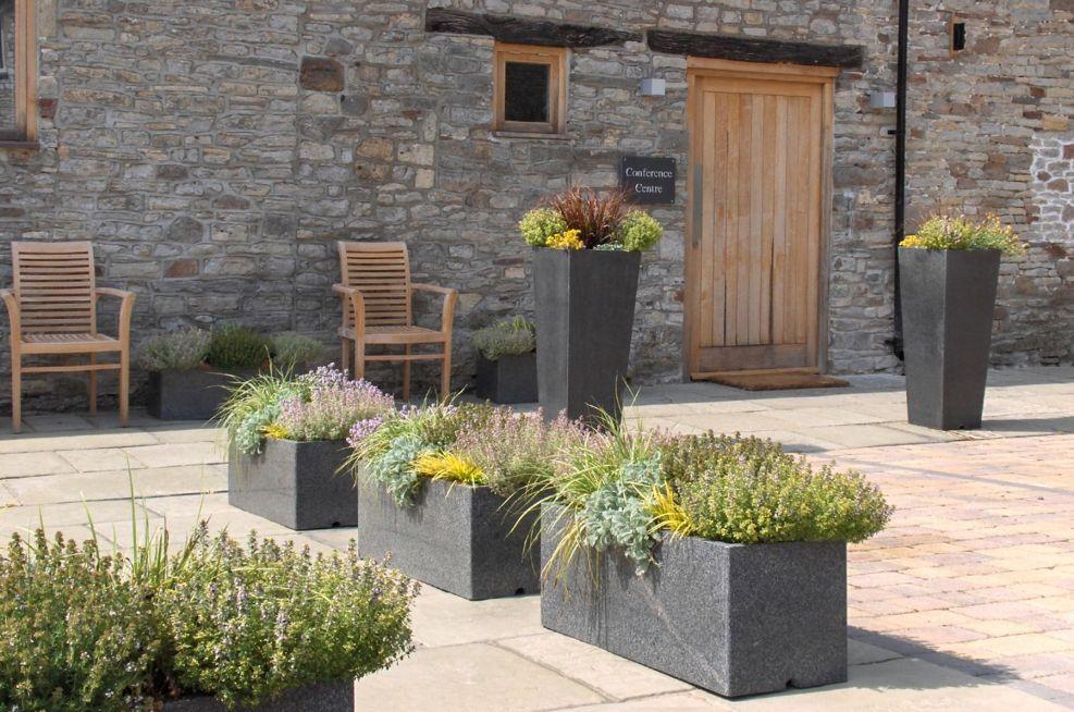 IOTA's Granite Stone Planters At Rolls-royce Corporate Hospitality Venue