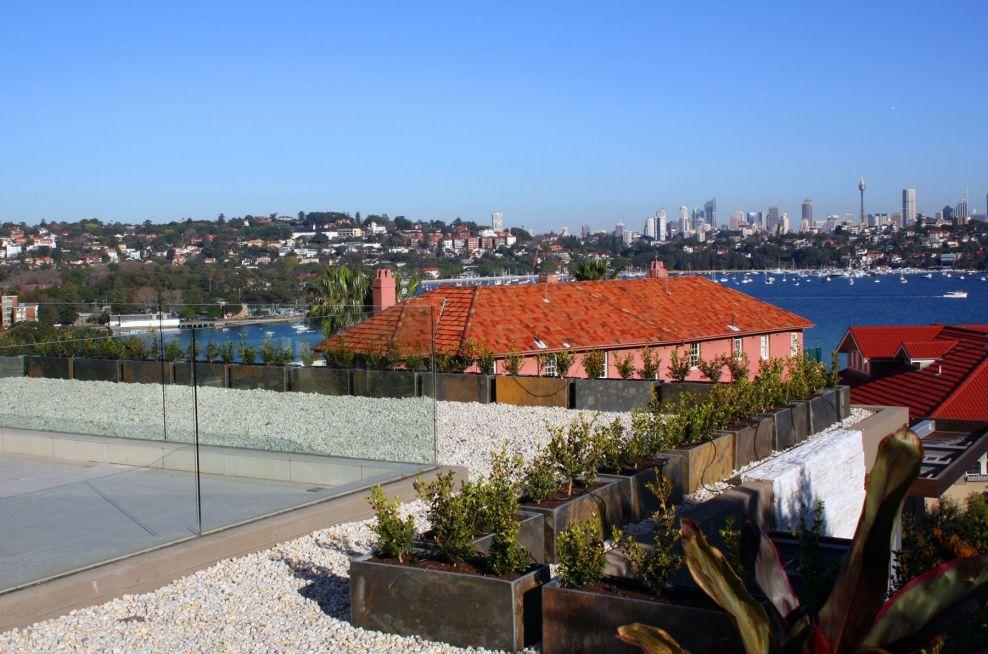 Rose Bay Sydney Australia Planters For Roof Top Terraces