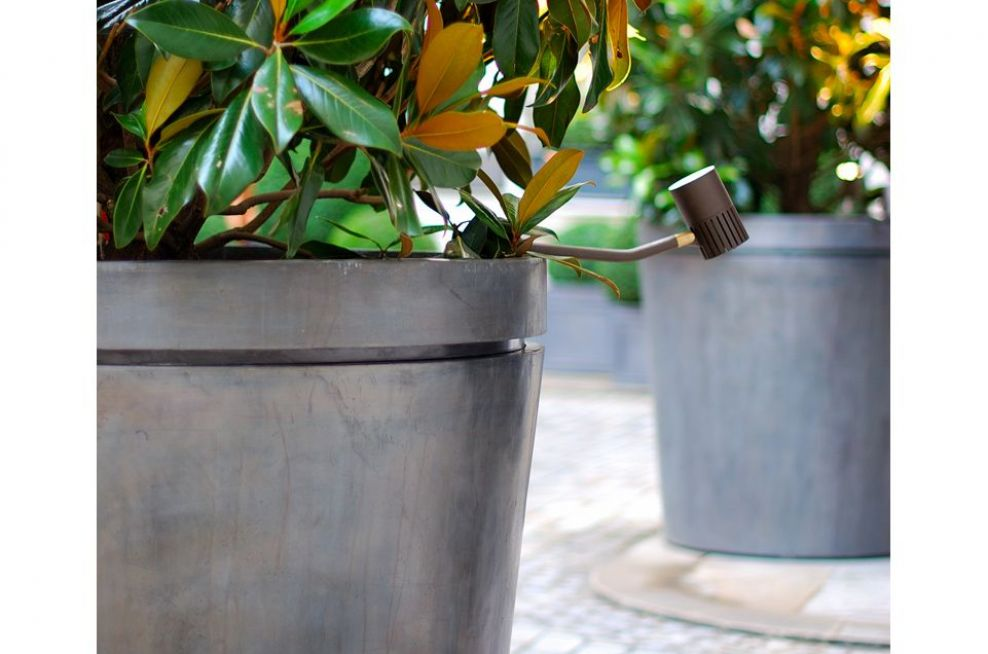 Close Up Of Small Lead Planters