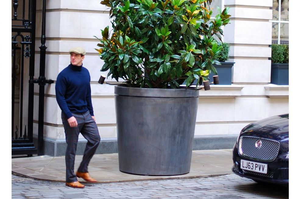 Rosewood London Bespoke Lead Plant Containers For Hotels