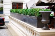 Steel Trough Planters for Rosewood London