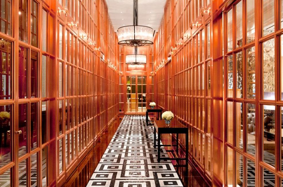 The Copper Entrance Lobby To The Rosewood London