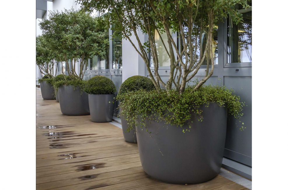 Outdoor Terrace Tree Planters
