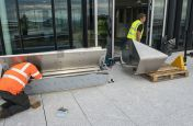 316-grade Stainless Steel Bench Planter Combo